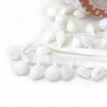 Pom Pom Trim Regular White