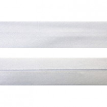 "12mm (1/2"") Single Fold 100% Cotton Bias Binding White"