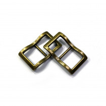 """Emmaline Bags Wide Mouth Strap Sliders (Extra Wide) For thicker straps 20mm (3/4"""") Antique Brass - 2pk"""