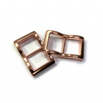 """Emmaline Bags Wide Mouth Strap Sliders (Extra Wide) For thicker straps 20mm (3/4"""") Copper - 2pk"""