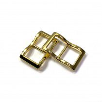 """Emmaline Bags Wide Mouth Strap Sliders (Extra Wide) For thicker straps 20mm (3/4"""") Gold - 2pk"""
