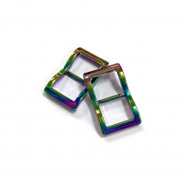 """Emmaline Bags Wide Mouth Strap Sliders (Extra Wide) For thicker straps 20mm (3/4"""") Iridescent Rainbow - 2pk"""