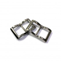 """Emmaline Bags Wide Mouth Strap Sliders (Extra Wide) For thicker straps 20mm (3/4"""") Silver - 2pk"""