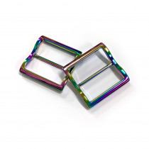 """Emmaline Bags Wide Mouth Strap Sliders (Extra Wide) For thicker straps 40mm (1-1/2"""") Iridescent Rainbow - 2pk"""