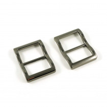 "Emmaline Bags Wide Mouth Strap Sliders (Extra Wide) For thicker straps 25mm (1"") Gunmetal - 2pk"