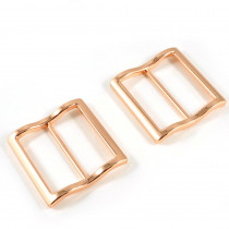 "Emmaline Bags Wide Mouth Strap Sliders (Extra Wide) For thicker straps 40mm (1-1/2"") Copper - 2pk"