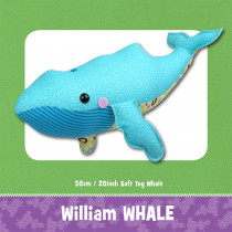 William Whale Soft Toy Sewing Pattern by Funky Friends Factory