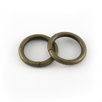 "Voodoo Bag Hardware Wire O-Ring 20mm (¾"") Antique Brass - 4pk"
