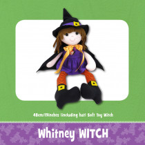 Whitney Witch Soft Toy Pattern by Funky Friends Factory