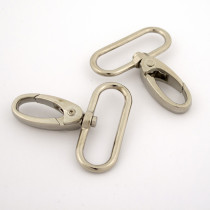 Swivel Keyring Clip 40mm Silver scale reference