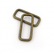 "Rectangular Wire Rings 40mm (1-1/2"") Antique Brass - 4 pk"