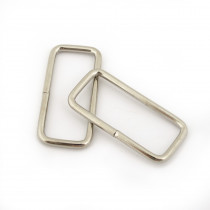 "Rectangular Wire Rings 40mm (1-1/2"") Silver - 4 pk"