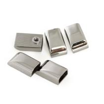 Emmaline Bags Metal Zipper Ends Silver - 5 Pack