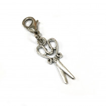 Voodoo Zipper Pull - Scissors Silver