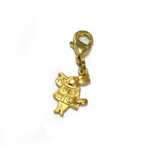 Voodoo Zipper Pull - White Rabbit Gold