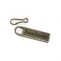 Emmaline Bags Zipper Pull: Handmade Antique Brass