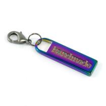 Emmaline Bags Zipper Pull: Handmade Iridescent Rainbow
