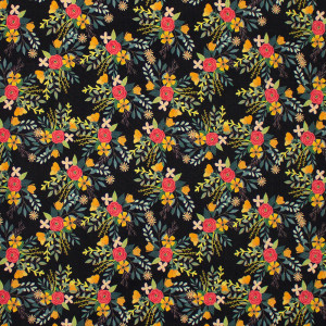 Birdie Amore Charcoal by Blend Fabric