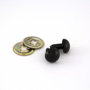 "Toy Eyes Solid - 12mm (1/2"") Black - 10pk (5 Pairs)"