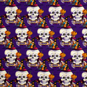 Witchful Thinking Boo Skulls Purple by Blank Quilting
