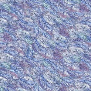 Celestial Journey Feather Multi by 3 Wishes Fabric