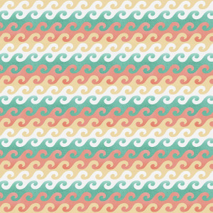 Beach Travel Waves Multi by 3 Wishes Fabric