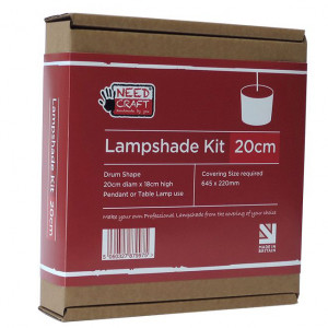 Professional Lampshade Making Kit 20cm Cylinder/Drum (base not included)