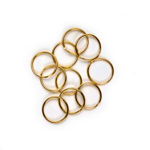 """Split Rings 25mm (1"""") / Gold 10pk"""