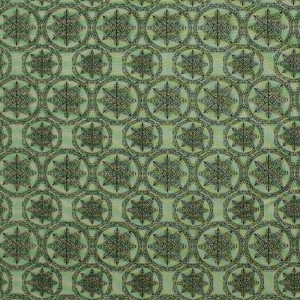 Santoro Mirabelle Adrift Star Medallion Dk Sage by Quilting Treasures
