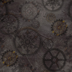 Steampunk Halloween Gears Smoke by Quilting Treasures