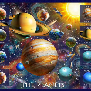 """Artworks XVIII Planets 91cm (36"""") Fabric Panel by Quilting Treasures"""