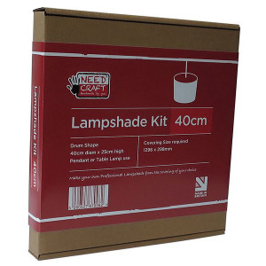 Professional Lampshade Making Kit 40cm Cylinder/Drum (base not included)
