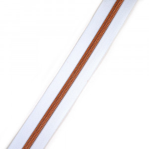 "Voodoo Bag Hardware (Size #5) Handbag Zipper White Tape with Copper Teeth 3m (157"") No Pulls"