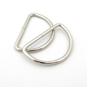 "Voodoo Bag Hardware D-Ring 50mm (2"") Silver - 4 pk"