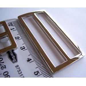 """Voodoo Bag Hardware Tri-Glides (Slide Adjusters) 50mm (2"""") Silver - 2pk"""