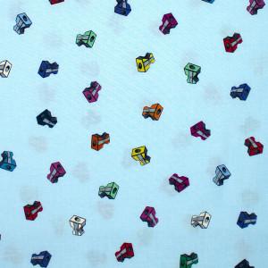Pencil Club Sharpeners Aqua by Windham Fabric