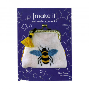 Make It Embroidery Purse Kit Bee