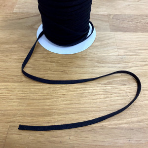 "5mm (1/4"") Flat String Elastic Black"