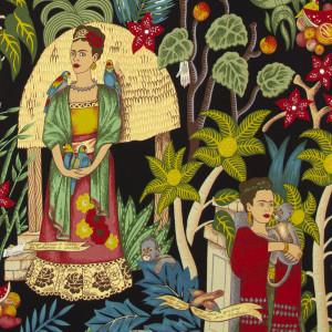 Frida's Garden (LIGHT WEIGHT) Black by Alexander Henry