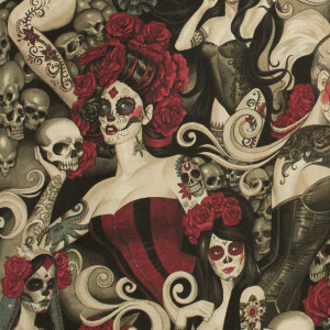 Las Elegantes (Day of the Dead Pinups) Dark Smoke by Alexander Henry