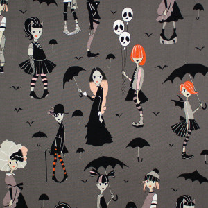 Going Goth Charcoal by Alexander Henry Fabrics