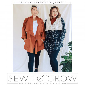 Alston Reversible Jacket Sewing Pattern by Sew To Grow