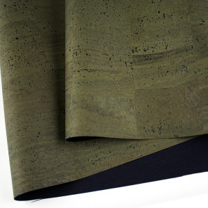 """Portuguese Surface Cork Army Green - Sizing from 70cm x 50cm (27-1/2"""" x 19-1/2"""")"""