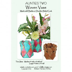 Woven Vase Sewing Pattern by Aunties Two
