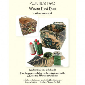 Woven Ends Box Sewing Pattern by Aunties Two