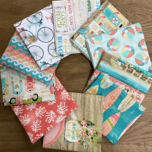 Beach Travel FQ and Panel Pack 10pc By 3 Wishes Fabric