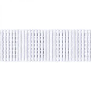 "Birch Creative Ribbed Non Roll Elastic 25mm (1"") Wide White"
