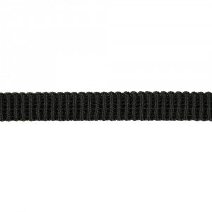 "Birch Creative Ribbed Non Roll Elastic 12mm (1/2"") Wide Black"