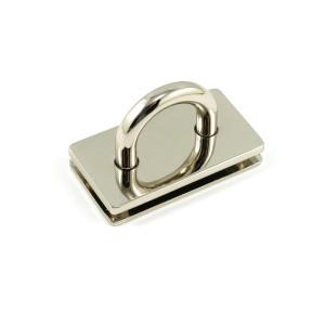 "Emmaline Bags Bridge Strap Connector 35mm (1-3/8"") wide Silver"