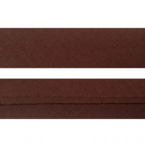 "25mm (1"") Single Fold 100% Cotton Bias Binding Brown"